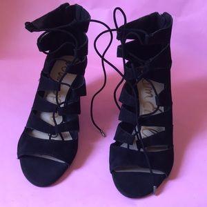 Sam Edelman Shoes - New black Sam Edelman suede leather wedges